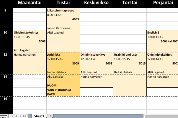 my-timetable
